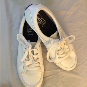 Keds white leather tennis shoes